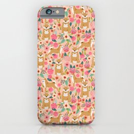 Shiba Inu floral dog must have gifts for shiba lovers florals dog breed iPhone Case