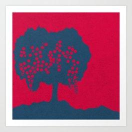 Fruit Tree Series, Red II Art Print
