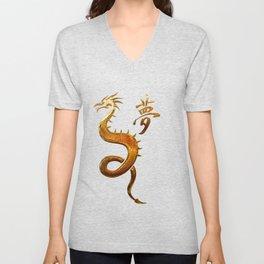 Textiles Asian Unisex V-Neck