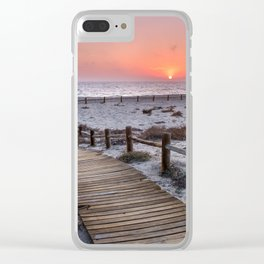 """To the beach...""Cabo de Gata"". Clear iPhone Case"