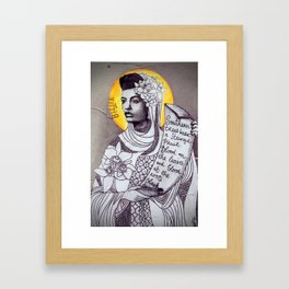 Saint Billie Holiday Framed Art Print