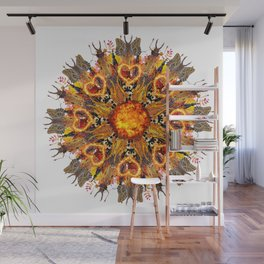 horrible insects mandala Wall Mural