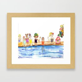 Girl Gang Framed Art Print