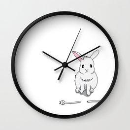 A grumpy bunny Wall Clock