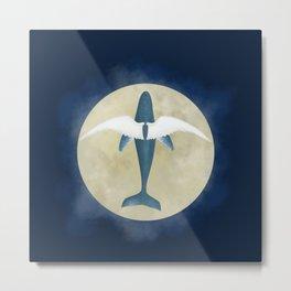 Flying whale Metal Print