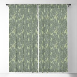 Begonia Leaves Pattern Blackout Curtain