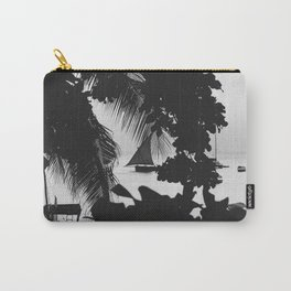 Black and White Summer Carry-All Pouch