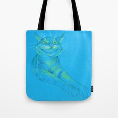 Where's the Canary? (smiley cat) Tote Bag