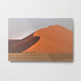 The red sand dunes of Sossusvlei desert, Namibia Metal Print