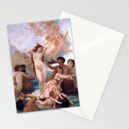 The Birth of Venus by William Adolphe Bouguereau Stationery Cards