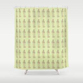 Ancient Mummy Mythical Mythology Color Pattern Shower Curtain