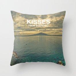 Kisses from Sorrento Throw Pillow