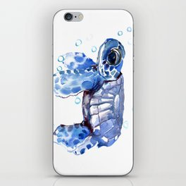 Baby Blue Turtle iPhone Skin