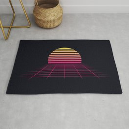 Retrowave sunset 2 / 80s - 90s Retro Rug