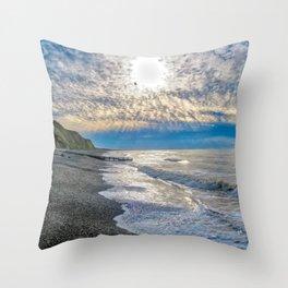 Sheringhman Beach Dusk Throw Pillow