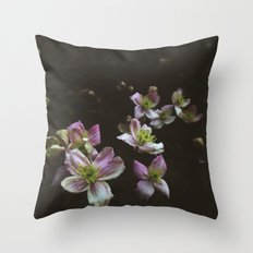 A trail of flowers Throw Pillow