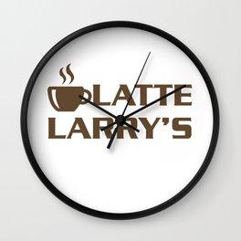 Latte Larry's Wall Clock