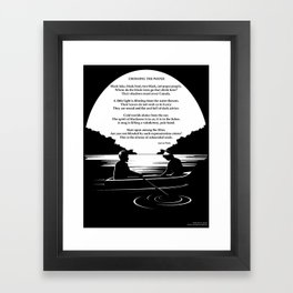 Crossing the Water (poem) by Sylvia Plath Framed Art Print