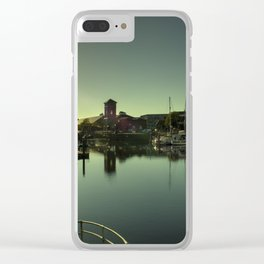 Swansea Docks Reflections Clear iPhone Case