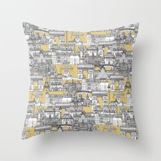 Paris toile gold Throw Pillow