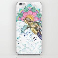 Sea Turtle Mandala & Geometric Ocean iPhone & iPod Skin