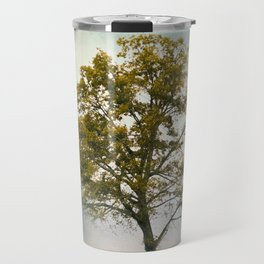 Bleached Sage Green Cotton Field Tree - Landscape  Travel Mug