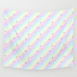 Springtime Butterfly Swirls Wall Tapestry