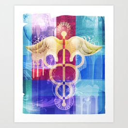 Caduceus Art Print