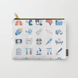 CUTE MEDICINE / SCIENCE / DOCTOR PATTERN Carry-All Pouch