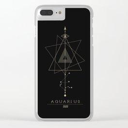 Aquarius Zodiac Constellation Clear iPhone Case