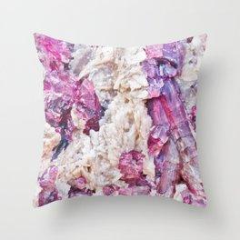 Magical pink crystal - gemstones, photography #Society6 Throw Pillow