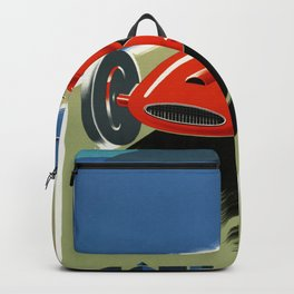 French Riviera 01 - Vintage Poster Backpack