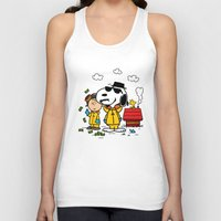 peanuts Tank Tops featuring Breaking Peanuts by Maioriz Home