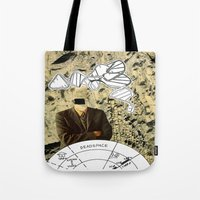 dead space Tote Bags featuring Dead Space by Michael Harford