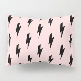 Lightning Bolts Blush Pillow Sham