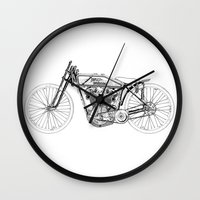 moto Wall Clocks featuring moto by Eyecatchingdesigns