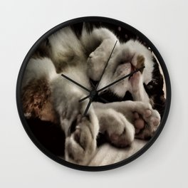 Cat get up right meow Wall Clock