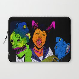 Bunny with seifuku, horns and necklace Laptop Sleeve