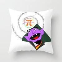 pi Throw Pillows featuring Count Pi by tuditees