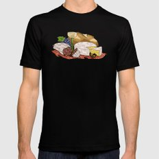 Perfect Picnic Black Mens Fitted Tee MEDIUM