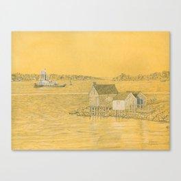 Willard Beach Fishing Shacks Canvas Print