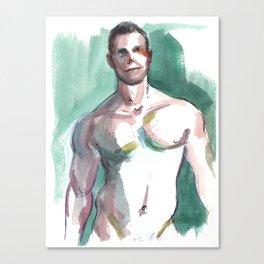 BRANDON, Semi-Nude Male by Frank-Joseph Canvas Print