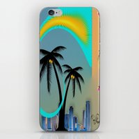 miami iPhone & iPod Skins featuring Miami by Dunksauce Art