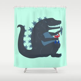 Let's be best friends forever! - Godzilla Shower Curtain