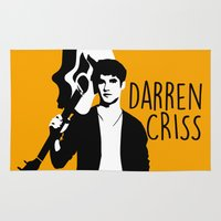 darren criss Area & Throw Rugs featuring Darren Criss with guitar! by byebyesally