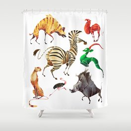 African animals 2 Shower Curtain