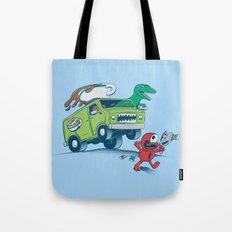 DinoLatte Run Down Tote Bag