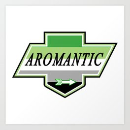 Identity Stamp: Aromantic Art Print