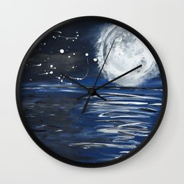 The Lake at Midnight  Wall Clock