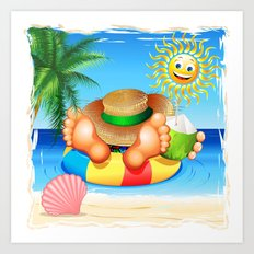 Summer Relax on the Sea Art Print